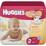 Huggies ® Little Snuggers Diapers for Kids Size 2, Comfortable - BG of 36 EA