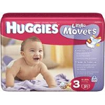 Huggies ® Little Movers Diapers for Kids Size 3, Jumbo - BG of 31 EA