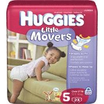 Huggies ® Little Movers Diapers for Kids Size 5, Jumbo - BG of 23 EA