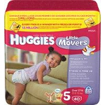 Huggies ® Little Movers Diapers for Kids Size 5 - PK of 40 EA