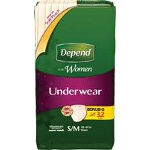 Depend ® Super Absorbency Women Underwear Small/Medium - BG of 32 EA