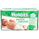Huggies Pure and Natural Baby Diapers for Kids, Step 4 - BG of 120 EA