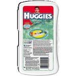 Huggies Natural Care ® Baby Wipe Travel Pack Unscented, Aloe and Vitamin E, Re-sealable Refills and Travel Packs. - PK of 16 EA