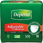Depend ® Adjustable Super Plus Absorbency Underwear Small/Medium, 28