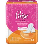 Poise ® Pantyliner Very Light Extra Coverage, Extra Light Coverage, Discreet Protection - PK of 44 EA