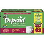 Depend ® Adjustable Super Plus Absorbency Underwear Large, 44