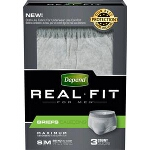 Depend Real Fit Briefs for Men, Small/Medium, 28