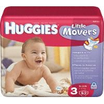Huggies ® Supreme Diapers for Kids Step 3, Fits 16 to 28 Pounds - BG of 52 EA