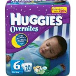 Huggies ® Overnite Diapers for Kids Size 6, Jumbo, Unique, Unisex - BG of 20 EA