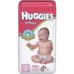 Huggies ® Snug and Dry Disposable Diapers for Kids Size 2, Unisex, Fits 12 lb to 18 lb - BG of 42 EA