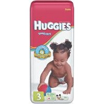 Huggies ® Snug and Dry Disposable Diapers for Kids Size 3, Unisex, Fits 16 lb to 28 lb - BG of 36 EA