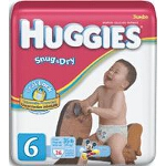 Huggies ® Snug and Dry Disposable Diapers for Kids Size 6, Unisex, Fits 35 lb - BG of 23 EA