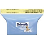 Cottonelle Flushable Moist Wipe Refill, Flushable, Alcohol-free - PK of 84 EA