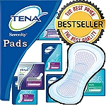 Tena Serenity Pads and Pantiliners (Light, Moderate, Heavy, Ultimate ) Each Pad Holds 6-13 Ounces of Fluid - Order per Pack or Case