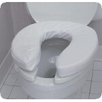 Mabis DMI Healthcare Toilet Seat Velcro Cushion, 2