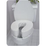 Mabis DMI Healthcare Toilet Seat Cushion with Velcro Straps, 4