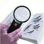 Mabis DMI Healthcare Illuminated Bifocal Magnifier, 3