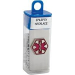 Apex Medical Epilepsy Necklace in Vial, Stainless Steel, Hypo-allergenic - 1 EA