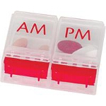 Apothecary Products Inc 1-day Am/Pm Push Button Pill Reminder 2-1/4
