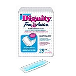 Dignity Free and Active Super Incontinence Pads - Premium Quality - 25/Pack