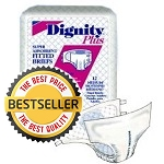 "Dignity Plus Briefs Super Absorbent ( Medium Size 32""-44"" ) 12/Pack"