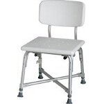 Medline Industries Bariatric Bath Bench with Back 550 lb, 16-1/2