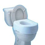 Mabis DMI Healthcare Molded Elevated Toilet Seat 14-1/2