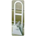 Mabis DMI Healthcare Easy Grip Adjustable Tub Grab Bar, Weight Capacity: 250 lb, 14-3/4