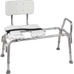 Mabis DMI Healthcare Heavy-duty Sliding Transfer Bench with Cut-Out Seat 19