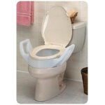 Mabis DMI Healthcare Standard Toilet Seat Riser with Arms, Weight Capacity: 300 lbs, Seat 3-1/2