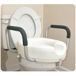 Mabis DMI Healthcare Locking Toilet Seat Riser with Removable Arms 15