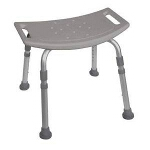 Deluxe K.D. Aluminum Bath Bench without Back, 400 lb Weight Capacity - 1 EA