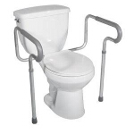 Toilet Safety Frame, 300 lb Weight Capacity - 1 EA