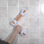 "Suction Cup Grab Bars, 19 3/4"" Dual Grab Bar, Rotating - 1 EA"