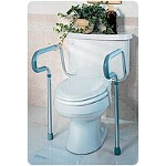 Medline Industries Guardian Toilet Safety Frame 250 lb, Handles are Adjustable, Rotate Back - 1 EA
