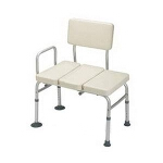 Medline Industries Guardian Padded Transfer Bench, 300 lb, Folding, Lightweight - 1 EA
