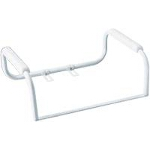 Home care ® by Meon ® Glacier Toilet Safety Bar White, Designed For Easy Cleaning, Provides Safety, Comfort - 1 EA