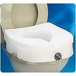 Carex ® E-Z Lock Raised Toilet Seat without Arms, 15-1/2