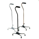Medline Industries Guardian ® Aluminum Large Base Quad Cane, Chrome, 30
