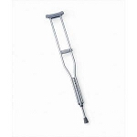 "Aluminum Crutches, Latex Free, Fits Adults 5'2""-5'10"" - PR of 2 EA"