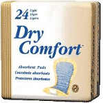 "TENA ® Dry Comfort Light Absorbency Incontinence Pad 10"" x 4"", Beige, latex-free - Qty: PK of 24 EA"