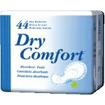 "TENA ® Dry Comfort Moderate Absorbency Bladder Control Day Pad 16"" x 11"", Blue, Latex-free - Qty: BG of 44 EA"