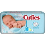 Prevail ® Cuties Baby Diapers for Kids Size Newborn, 10 lb, Comfortable, Ultra-absorbent Core - Qty: BG of 42 EA