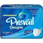 Prevail ® Breezer Adult Briefs, Diapers Large 45-58