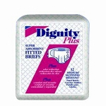 Dignity ® Plus Comfort Adult Fitted Briefs, Diapers 63