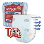 Tranquility SmartCore Disposable Brief Medium White 32