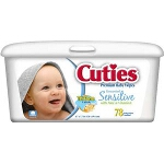 Cuties Baby Wipes Fragrance Free - Qty: PK of 80 EA
