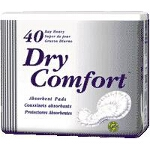 "TENA ® Dry Comfort Heavy Absorbency Day Pad 16"" x 11"", White, Latex-free - Qty: BG of 40 EA"