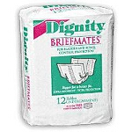 Dignity  Beltless Undergarments BriefMates 13-1/2