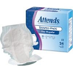 Attends ® Shaped Pads for Incontinence, Day Plus - Qty: BG of 24 EA